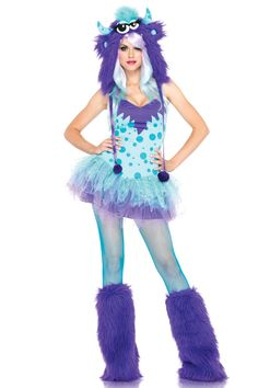 Purple monster costume, almost like sully from monsters inc