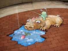 Playful Chalk Art by David Zinn | Showcase of Art & Design