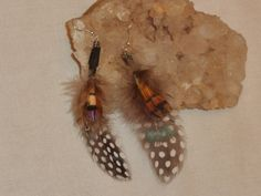 Handmade feather jewelry Feather dangling by EnchantedRoseProduct, $7.50