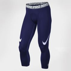 New-Men-039-s-Nike-Pro-Cool-Compression-Football-Tights-Blue-Red-M-XL