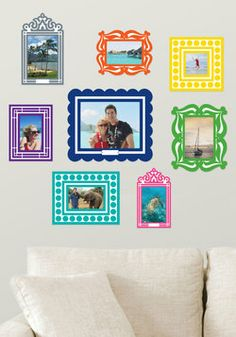 Frame of Deference Wall Decal Set in Brights, $19.99 #ModCloth