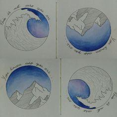 Técnica de desenho com nanquim e pintura com tinta aquarela - art/ quotes