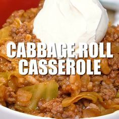 Roll Casserole Cabbage Roll Casserole - Enjoy the simple flavours of cabbage rolls without all the fuss!Cabbage Roll Casserole - Enjoy the simple flavours of cabbage rolls without all the fuss! Lazy Cabbage Rolls, Cabbage Rolls Recipe, Cabbage Recipes, Casserole Dishes, Casserole Recipes, Cabbage Roll Casserole, Slow Cooker, Beef Dishes, Ground Beef Recipes