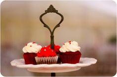 Mini red velvet and brownie Wedding cupcakes