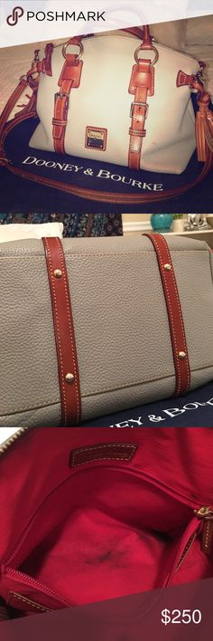 Dooney & Bourke handbag Grey and brown pebble leather hobo. Has some wear inside but outside is practically perfect. Comes with dust bag Dooney & Bourke Bags Hobos