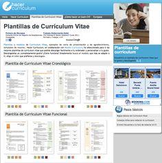 Plantillas de Currículum Vitae  Hacer Curriculum
