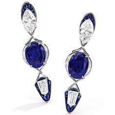 Alexandre Reza Sapphire And Diamond Earrings, Sapphire Jewelry, Sapphire Gemstone, Ceylon Sapphire, Blue Sapphire, Titanic Jewelry, High Jewelry, Jewelry Box, Lotus Jewelry