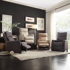 The casual feel of the Saipan recliner makes it the perfect piece to complete the look of your living room or personal space.  This upholstery recliner club chair is available in a variety of options, so you'll be able to match your home decor.