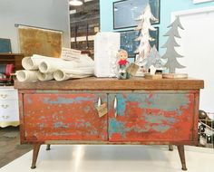 Industrial Metal and Wood Table (SOLD!)   Paper Street Market