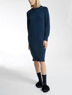 Max Mara FATTO bleu: Robe en laine.