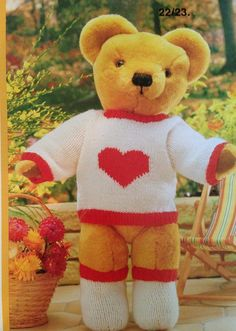 Teddy Bears Clothes Knitting Pattern Book 26 by KenyonBooks
