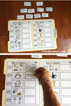 Bill of Rights, printable and file folder game | the wise nest