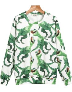 Sweat-Shirt Motif Dinosaures Manche Longue 12.22