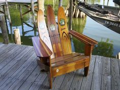Water ski chairs...we just bought two of these in Canton for our living room. So fun!