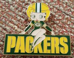 Green Bay Packers Lapel Pin for sale online Green Bay Packers Colors, Green Bay Packers Fans, Go Packers, Sport Football, Betty Boop, Lapel Pins, Nfl, Ebay, Free Shipping