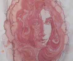 Illusion: I have seen a number of coffee stain portraits (e.g. by Hong Yi), however, it is the first time viewing wine stain art. Artist Amelia Fais Harnas stains fabric with red wine using awax-resist dyeing process like Batik.    (Image © Harnas)    http://illusion.scene360.com/art/30834/red-red-wine/