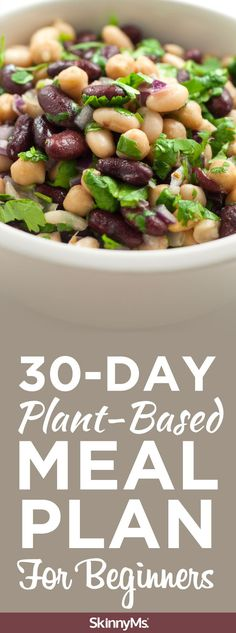 30-Day Plant-Based Meal Plan For Beginners - Our 30-day plant-based meal plan for beginners will walk you through everything you need to know to start on your plant-based journey. | plant based | plant based diet | plant based foods list | Skinny Ms. #plantbased #wholefoods #mealplan #plantbaseddiet #skinnyms