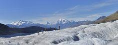 Gletschertour Gruppe mit Blick auf das Matterhorn in der Aletsch Arena