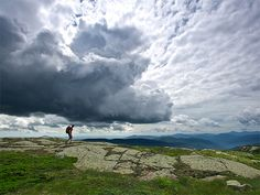 Picture of a hiker on the Presidential Range in the White Mountains, New Hampshire