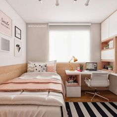 Small Room Design Bedroom, Teen Bedroom Designs, Room Ideas Bedroom, Home Room Design, Decor Room, Bedroom Decor, Dorm Design, Master Bedroom, Interior Design