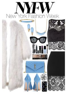 """""""Pack for NYFW!"""" by milenabascur ❤ liked on Polyvore featuring Topshop, Bobbi Brown Cosmetics, Parisian, Alexis Bittar, Gianvito Rossi, CÉLINE, Casetify, Yves Saint Laurent, Lancôme and Monki"""
