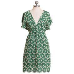 green daisy dress #dress #green