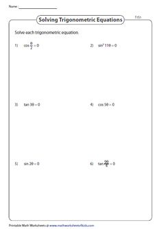 38 Best Trigonometry Worksheets images in 2018