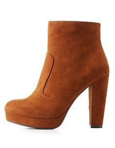 92fa2162359c Chunky Heel Ankle Boots  Charlotte Russe