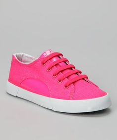 Take a look at this Neon Pink Sunrise Sneaker - Kids by Gotta Flurt on #zulily today!