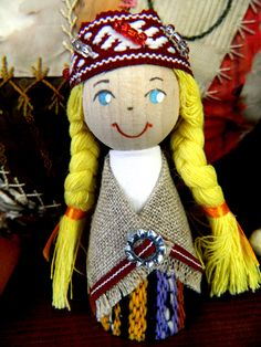Little Latvian Folk doll from Latvia.  My mom brought this for me from her visit to our family in Latvia.