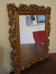 Golden Ornamental Syroco  Mirror  - 1957 (FREE SHIPPING)