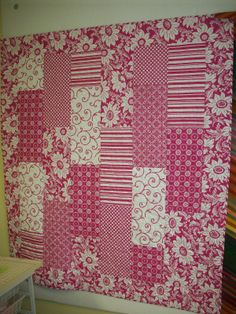 Girlie Pink Quilt: tutorial; this quilt would be great with either traditional or modern prints