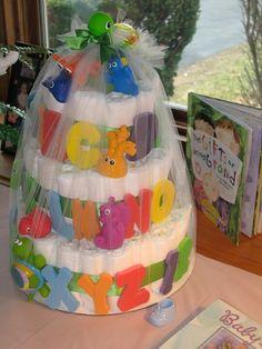Unisex diaper cake!