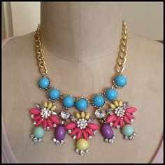 2 X HOST PICKSweet Hard Candy Necklace Looks like you went into a candy store and fill up a necklace with some hard candies. Pretty color mix so that it will go with so many tops. See photo for all the colors. The necklace has a lobster closure. The chain is a link chain. Don't pass this cutie up. Unknown Jewelry Necklaces