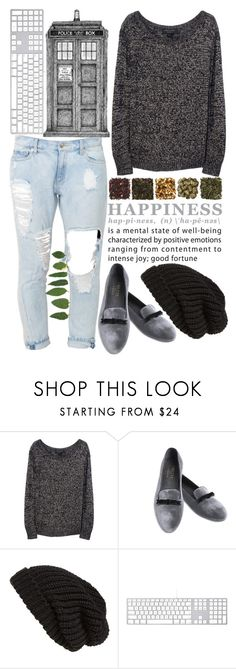"""Police box"" by youngflyvintage ❤ liked on Polyvore featuring rag & bone, Frette and Tarnish"