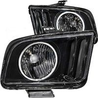 Cheap FRONT HEADLIGHT Ford Mustang 2009 CRYSTAL HALO BLACK (CCFL) sale