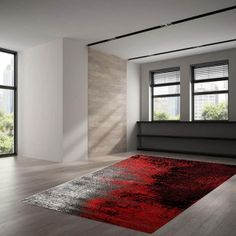 Dreaming of an elegant and relaxed living space? Get that with our Red Rug. Red Rugs, Bold Colors, Living Spaces, Contemporary, Abstract, Rest, Stylish, Chic, Design