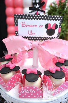 Cute treats at a Minnie Mouse Polka dots Birthday Party! See more party ideas at CatchMyParty.com!