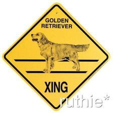 Golden Retriever Dog Crossing Xing Sign New