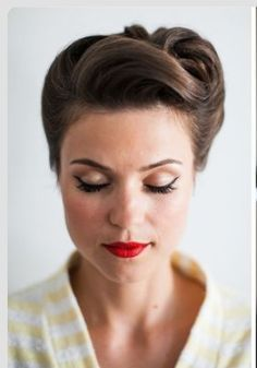 hairstyles 1950s long hair - Google Search