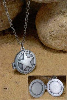 Colgante El Llanero Solitario. Ranger de Texas Colgante medallón del emblema del Ranger de Texas, el Llanero Solitario.