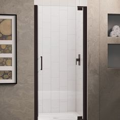 DreamLine SHDR-4130720-06 Elegance 30-1/2 to 32-1/2 in. W x 72 in. H Shower Door, Bronze Hardware