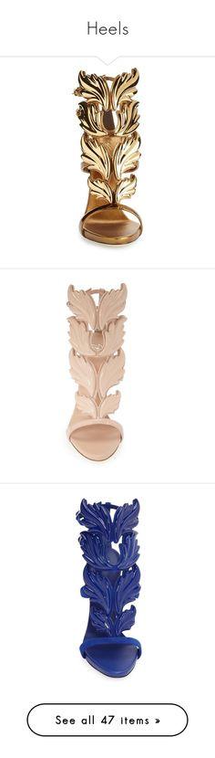 """Heels"" by princess-kiana ❤ liked on Polyvore featuring shoes, sandals, heels, giuseppe zanotti sandals, giuseppe zanotti, wing shoes, polish shoes, stiletto high heel shoes, stiletto heel shoes and heels stilettos"