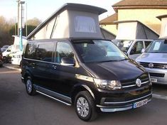 eBay: VOLKSWAGEN TRANSPORTER CAMPER T6 102BHP Euro 6 4 Berth Camper Black Manual Diese #vwcamper #vwbus #vw