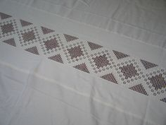 ESTATE-Exquisite Antique VTG Norwegian Hardanger TableCloth~Banquet Size~70x96…
