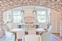 I love the look and feel of this faux brick archway. Maybe for the kitchen or main entryway. to faux brick walls. House Design, Interior Design Kitchen, New Homes, Interior Design, House Interior, House, Home, Fake Brick Wall, Home Decor