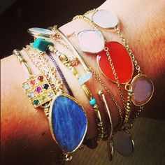Gorgeous Pippa bracelets layered together