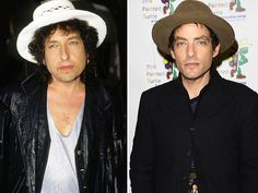 Legendary folksinger Bob Dylan and son Jakob Dylan, the lead singer of The Wallflowers