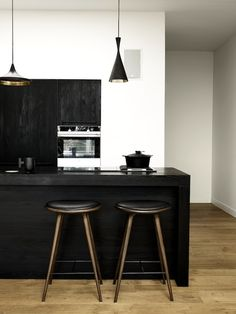 justthedesign:    Black Dining/Kitchen Space