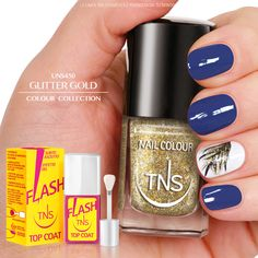 UNS450 - Glitter Gold, oro puro. Il colore must have dell'anno.  Da scegliere per piccoli dettagli o per una manicure completa, perfetto per ogni occasione!
